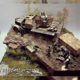 Age model simulation tree scene vegetation hedgehog military scene sand table building model DIY production materials