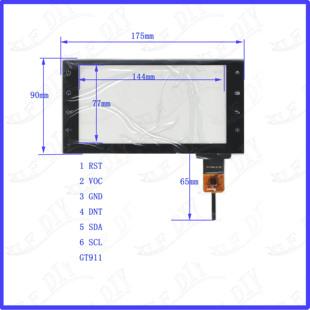 6.5外屏幕玻璃175 CTP824 90mm 6.5寸电容触摸GT911手写YH