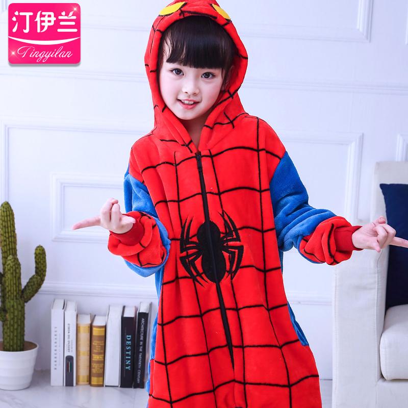 儿童睡衣睡衣蜘蛛侠
