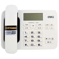 Deli 794 telephone landline fixed wired telephone lightning protection calculator alarm clock home office hotel