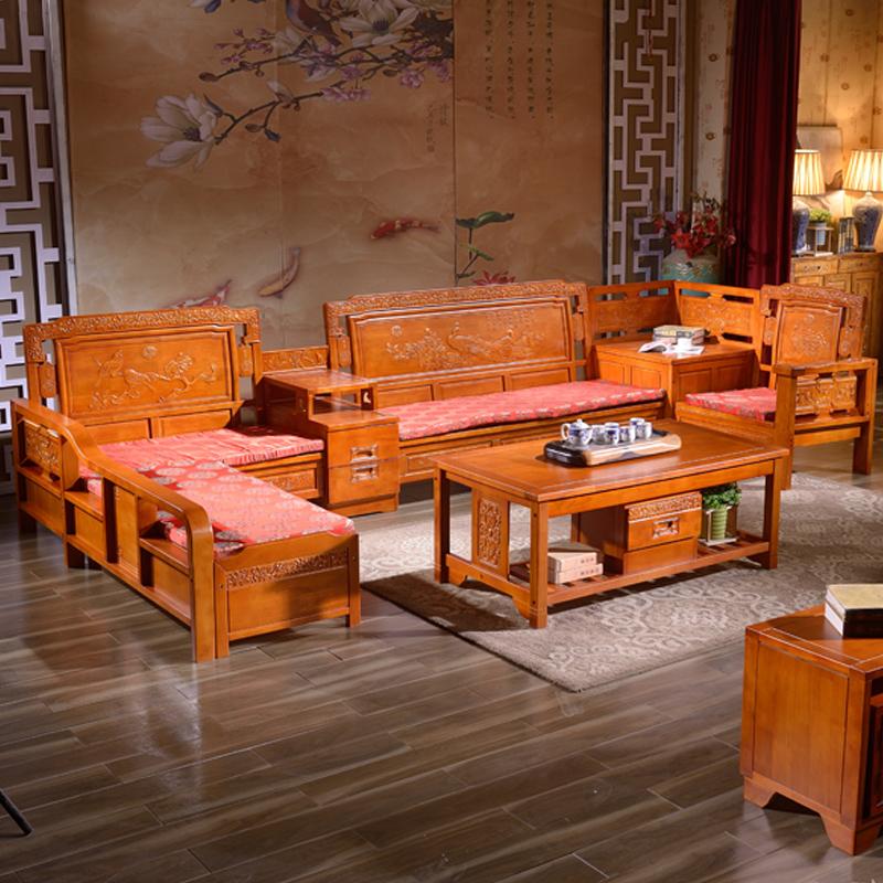 贵妃古典木沙发