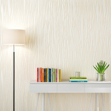 简约现代素色竖条纹纱线墙纸无纺布卧室客厅书房办公室背景墙壁纸