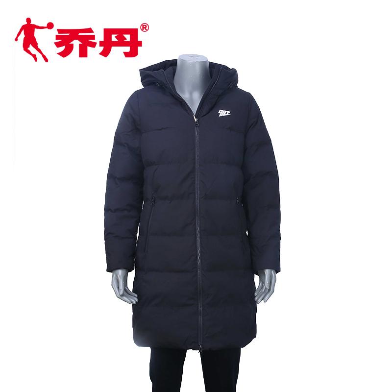 【商场同款】乔丹女士羽绒服2018冬季新款休闲长款外套EGM4284315