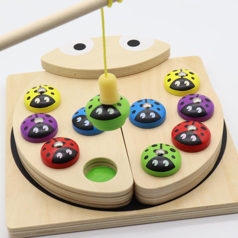 宝宝钓鱼游戏早教形状认知配对颜色感知积木2-34岁男女孩儿童玩具