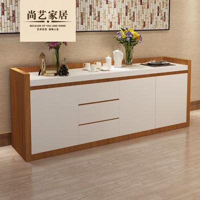 尚艺家居 现代简约餐边柜烤漆客厅边柜储物柜餐厅厨房橱柜茶水柜
