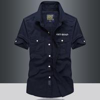 2018夏季衬衫新品军装纯棉薄款短袖衬衫男士韩版修身半袖衬衣男潮