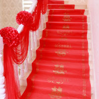 Wedding supplies Daquan wedding stair handrail decoration wedding room layout set new room pull flower gauze wedding red yarn