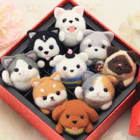 Gift box delivery tool Christmas gift gift making diy wool felt poke material package