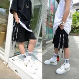 Large size boys shorts 12-15 years old big boy 2019 summer street dance hip hop loose five pants in the pants tide