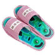 足神太极穴位磁疗按摩拖鞋保健按摩鞋足底按摩鞋男女居家拖鞋包邮