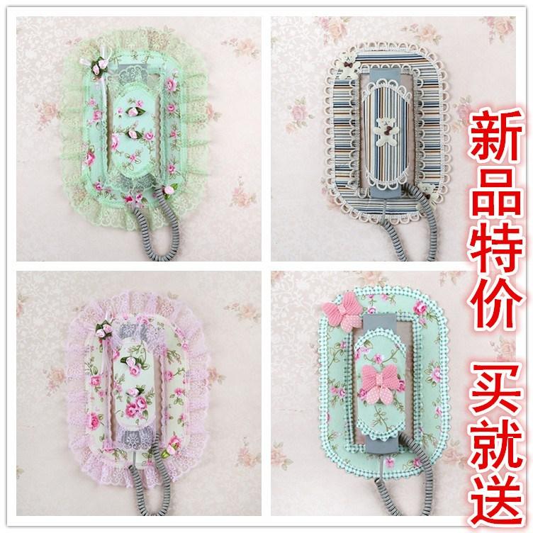 包邮精品布艺楼宇门铃对讲室内机套电话挂机门铃防护罩装饰贴