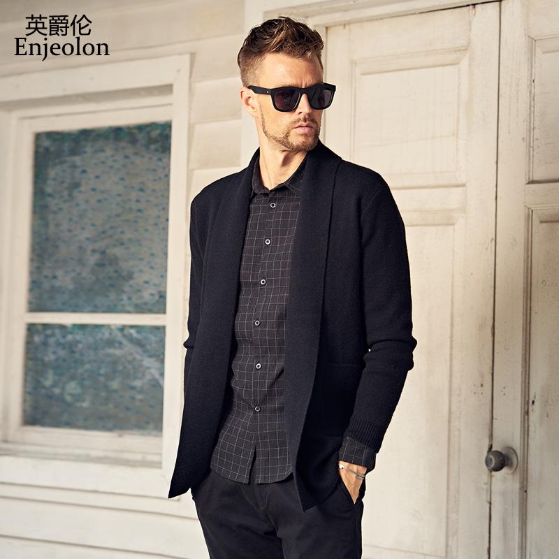 英爵伦 2019春装新款 外套男 男士开衫毛衣 韩版针织衫毛线衣潮流