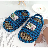 Children slippers 1-3 years old baby indoor cloth bottom silent soft bottom home wood floor quiet anti-slip pure cotton children