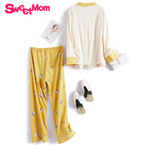 Sweetmom moonwear three-piece suit for postpartum pregnant women in spring and Autumn
