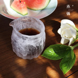 Ancient glass glazed frozen burning cups Hand-made glazed thickened anti-scalding small cups Japanese tea sea tea cups