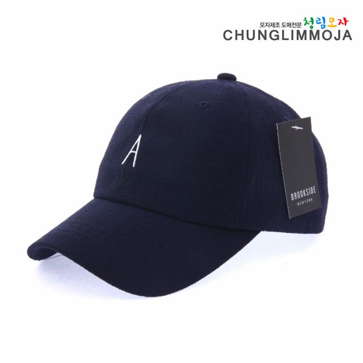 韩国青林潮牌帽子代购男女款精致A字母刺绣棒球帽卷檐硬顶鸭舌帽