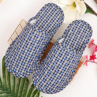 大码家用棉拖鞋冬季男士室内布底家居鞋木地板拖鞋软底布静音无声