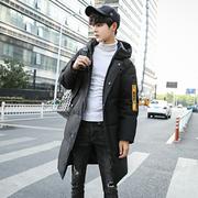 战地吉圃冬季新款男士中长款棉服韩版修身棉袄青年潮流加厚面包服