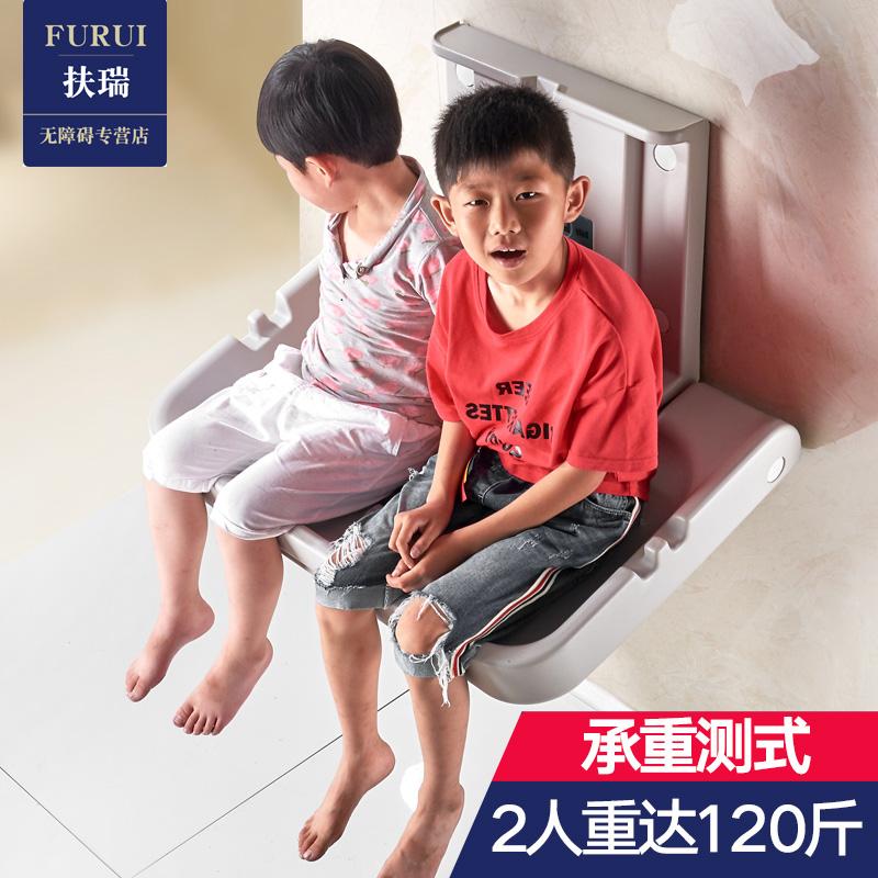母婴室婴儿护理台壁挂式折叠第三卫生间儿童换尿布台厕所看护座椅
