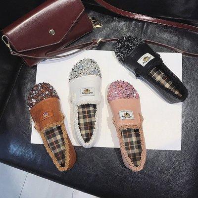 网红同款鞋子2018新款韩版百搭平底学生豆豆单鞋丑鞋女鞋舒适超火