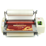 Hot laminating machine film machine hot film machine good comrades 8350 cold laminating machine laminating machine A3 pre-coating film hot laminating machine BOPP pre-coating film laminating machine cover leaflet photo film to send two roll film