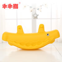 Kindergarten indoor and outdoor plastic thickening whale seesaw double rocking horse baby Trojan child seesaw toy