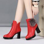 兔毛马丁靴