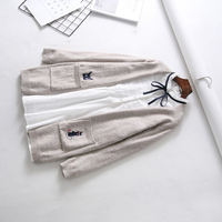 Maternity spring and autumn cardigan sweater two-piece Korean version of the loose autumn and winter suit jacket spring long-sleeved shirt