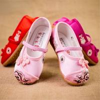 New old Beijing children's cloth shoes girls embroidered shoes national wind baby princess shoes students dance performance shoes