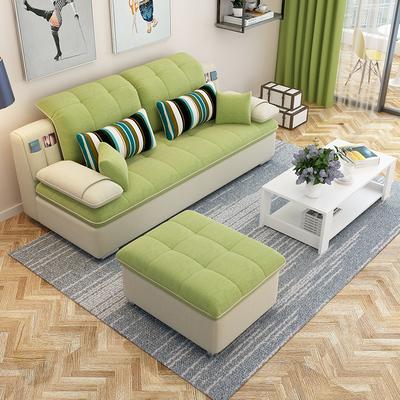 沙发小户型简约现代客厅整装三人双人可拆洗出租房简易家具布沙发正品折扣