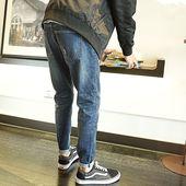 子小脚裤 小脚弹力男士 韩版 牛仔长裤 唐狮春夏新款 潮流 牛仔裤 男修身图片
