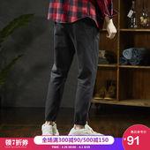 唐狮春季休闲裤男韩版潮流chic工装裤男潮牌束脚裤