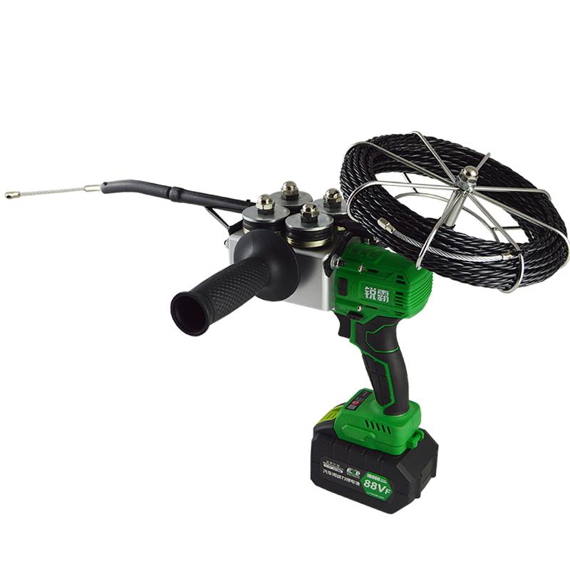 锐霸锂电穿线机穿线器引线器电工全自动电动穿线神器拉线放线串线