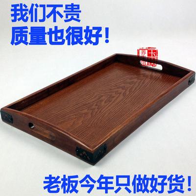 实木托盘长方形木质年货节