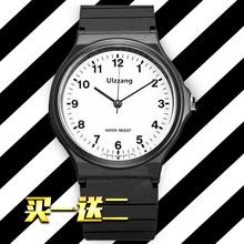 运动手表ins风儿童潮流男女情侣休闲学生韩版简约数字电子小黑表