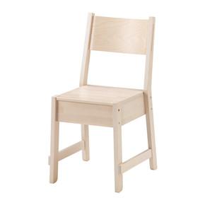 海之蓝国内宜家家居代购 诺鲁克 椅子, 白色 桦木 餐椅 咖啡馆椅