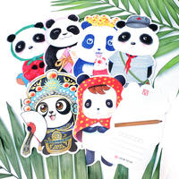 Kobayashi original creative hand-painted Christmas postcard Chengdu giant panda card paper bookmark shaped custom greeting card