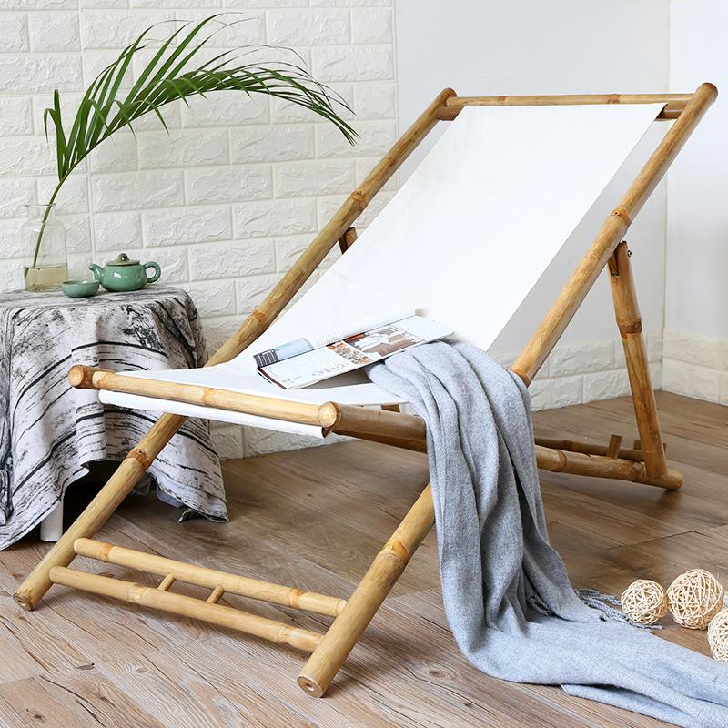 越南进口竹躺椅折叠椅成人午休睡椅靠椅老人逍遥椅家用阳台夏凉椅