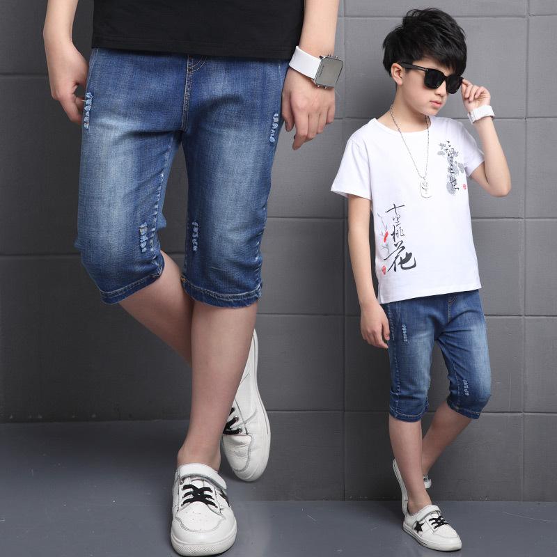 男孩牛仔短裤夏装