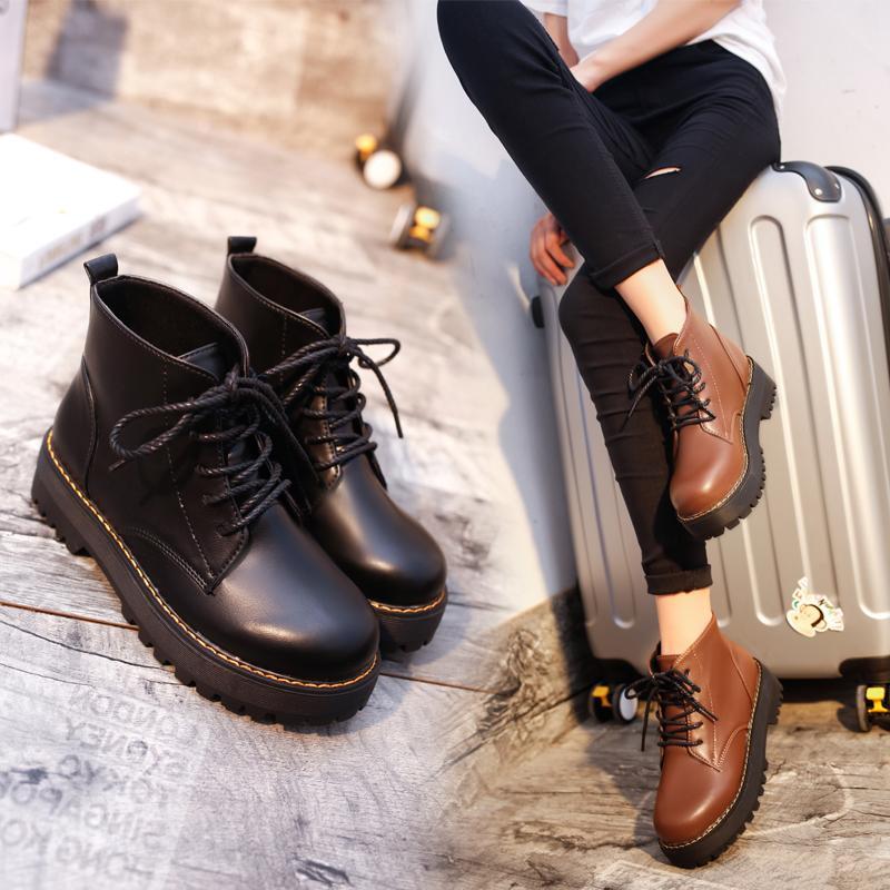 马丁鞋女秋季短靴