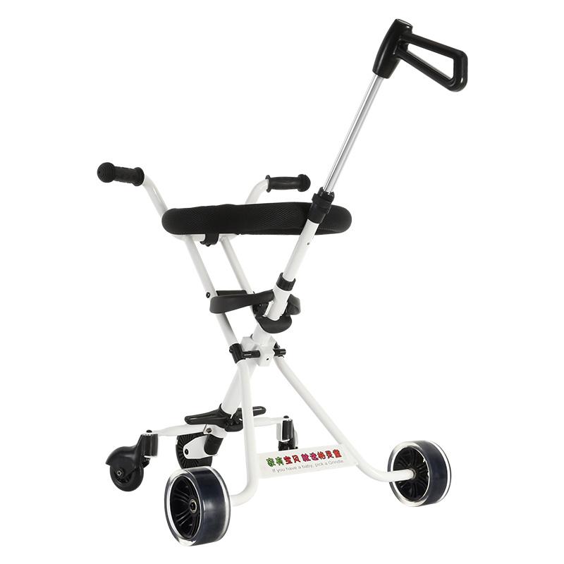 格灵童遛娃溜娃神器简易儿童手推车折叠轻便三轮车推荐2-7岁宝宝