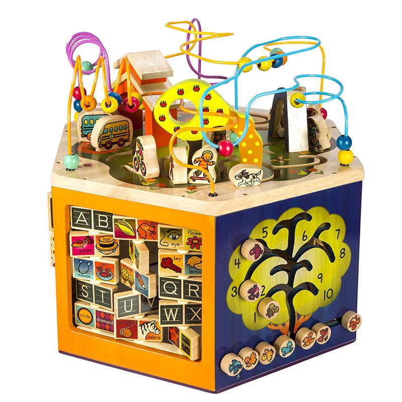 B.Toys青年大学活动中心多功能百宝箱绕珠超大号六面体儿童玩具
