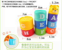 Set of Cups Stacked Cups Jenga Layers Stacked Baby Infant Infant Cognitive Toys Children Building Blocks 1-5 Years