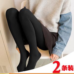 春秋季丝袜连裤袜加绒打底袜裤女光腿肉色黑色秋冬加厚瘦腿防勾丝