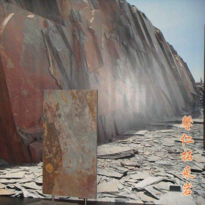 进口高端石皮透光拓採岩天然超薄可弯曲石材背景墙贴面拓采岩