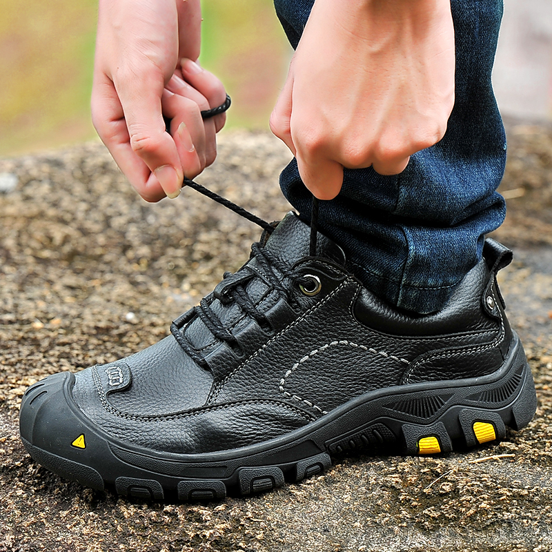 夏季真皮皮鞋户外鞋登山鞋男鞋防水鞋防滑徒步鞋旅游靴运动爬山鞋
