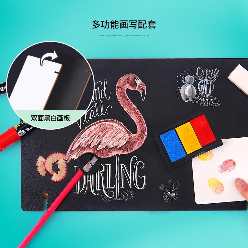 美乐儿童绘画套装工具开学必备蜡笔水彩笔美术用品画画文具礼盒