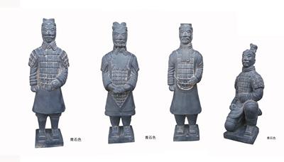 30cm兵马俑四件套工艺品 中国地区特色 礼品摆件 送老外送战友