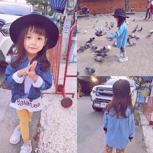 韩版牛仔衬衣童装