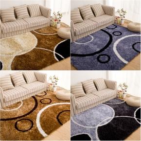 加密加厚现代简约风格亮丝图案欧式地毯客厅茶几地毯卧室床边地毯
